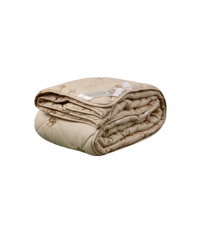 Одеяло SELENA Акварель 1,5 спальный, 140x205, Летнее, с наполнителем Верблюжья шерсть
